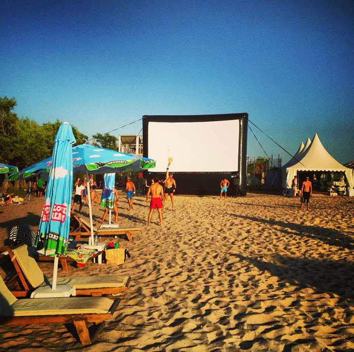 Real Open Air Cinema at the beach Athens, Greece