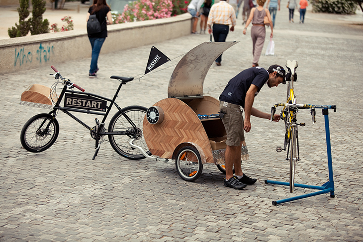 Pop-up Bicycle Repair Services in Athens, Greece