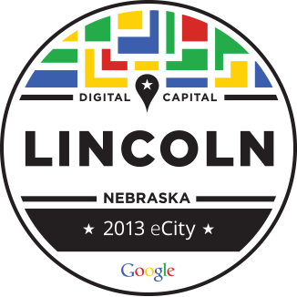 e-City Logo Lincoln, Nebraska