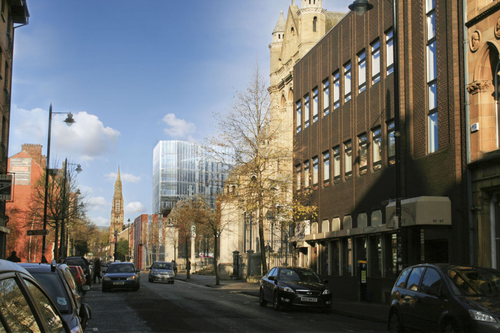 Artist Impression of the Regeneration of the University of Ulster, Belfast Campus, Belfast, Ireland