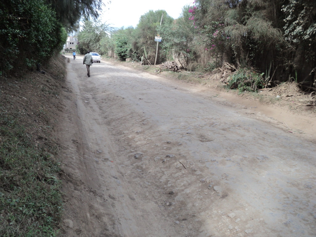 An older road in need of improvement; Africa