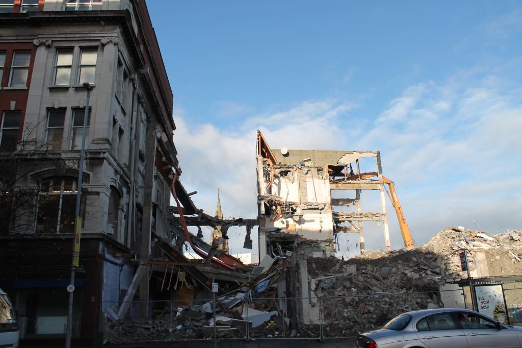 Current Demolition State of University of Ulster, Belfast, Ireland