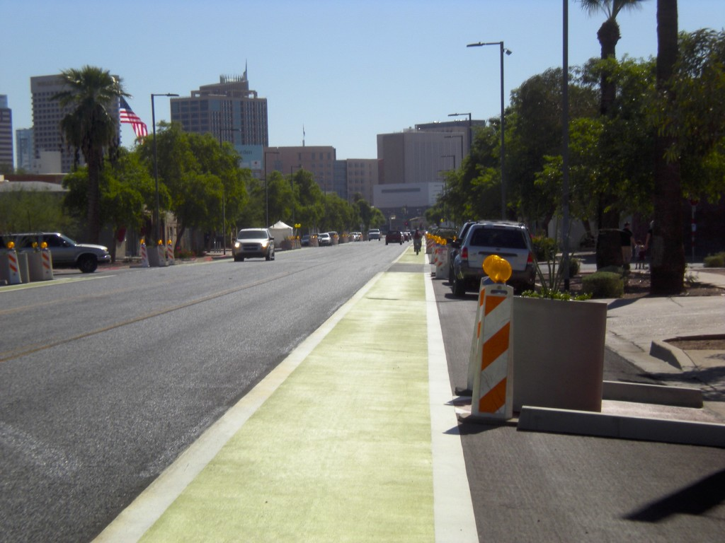 New Green Bike Lane