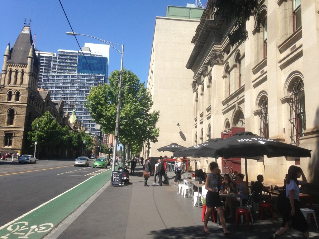 Cafes such as these in CBD will now find it hard to get a planning permit.