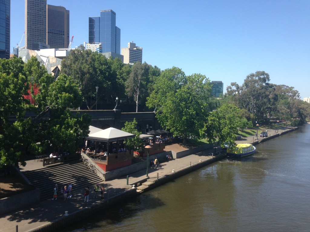 Bars such as these along the Yarra River showcase Australia's love for drinking.