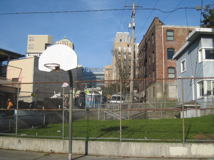 Basketball Court in Yesler Terrace
