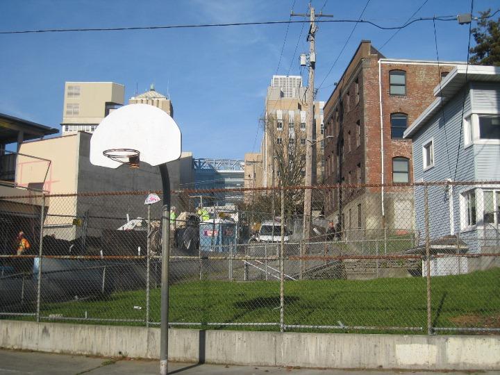 Basketball Court in Yesler Terrace