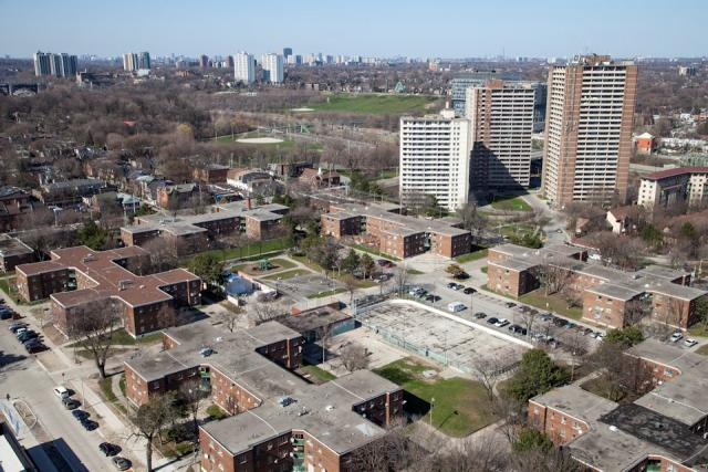 Regent Park before the revitalization, Toronto, 2006