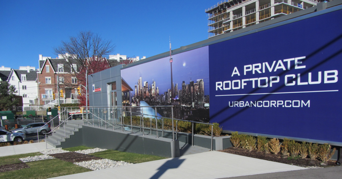 """A Private Rooftop Club""  Ad in Toronto"