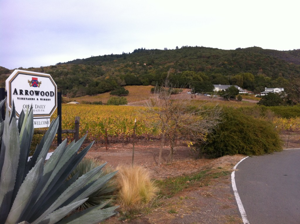 View of Arrowood Winery from Highway 12