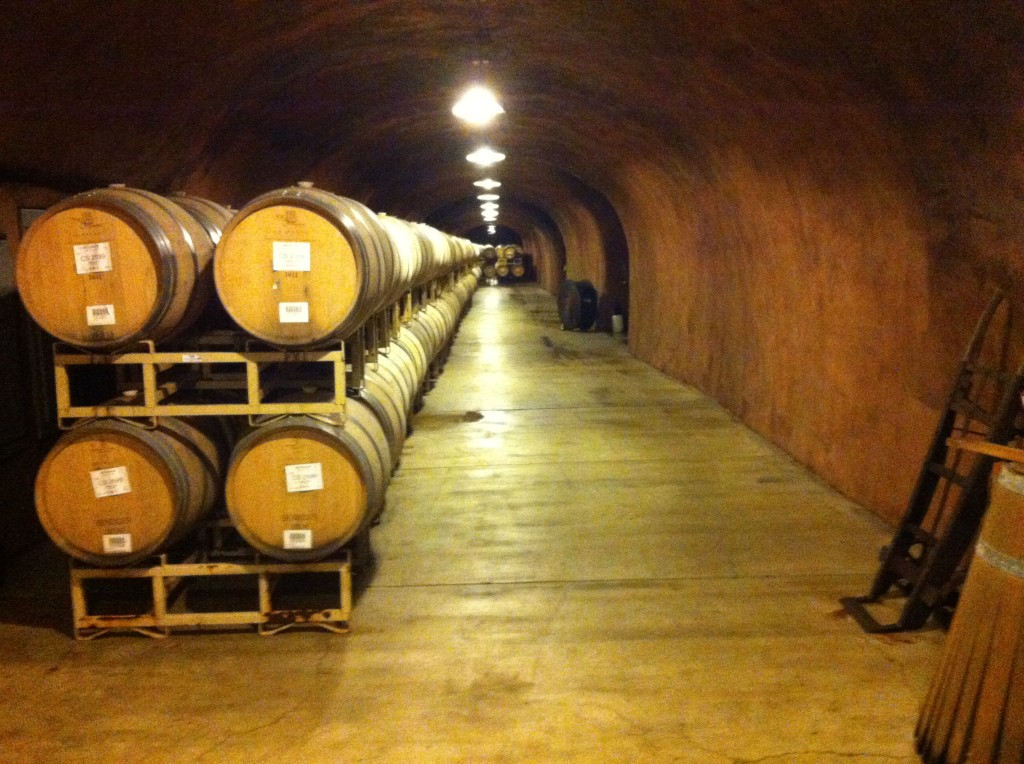 "29,000 square foot ""wine cave"" is the final stage before bottling"