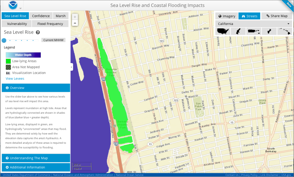 Sea Level Rise for Berkeley, CA