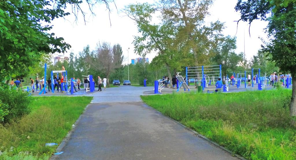 Outdoor Gym in Astana Park; Astana, Kazakhstan