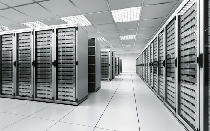 A data center in the United Kingdom.