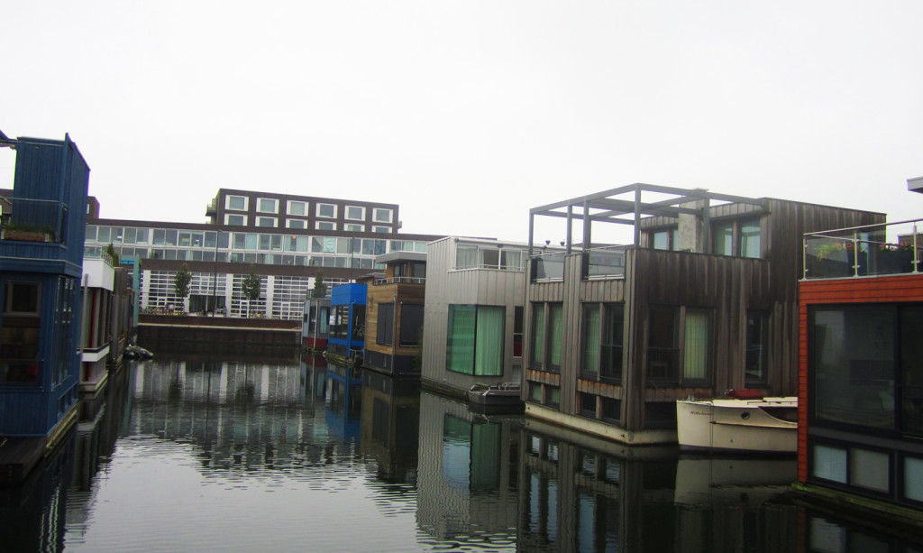 Floating homes, IJburg, Amsterdam, Netherlands
