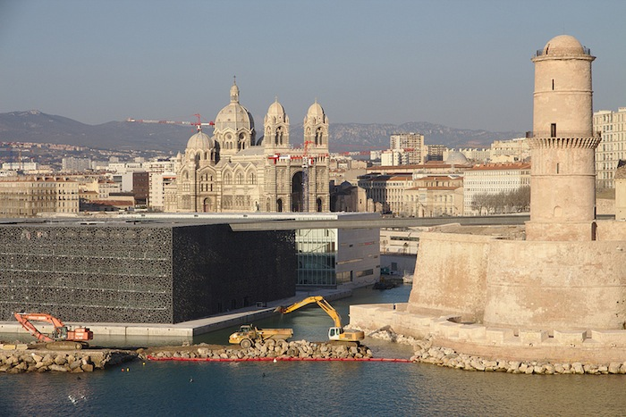 Fort Saint-Jean and MUCEM in Marseille, France.