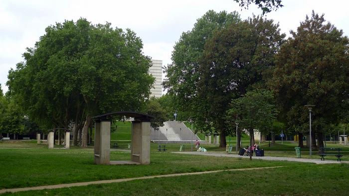 The Parc de Bercy in Paris, France