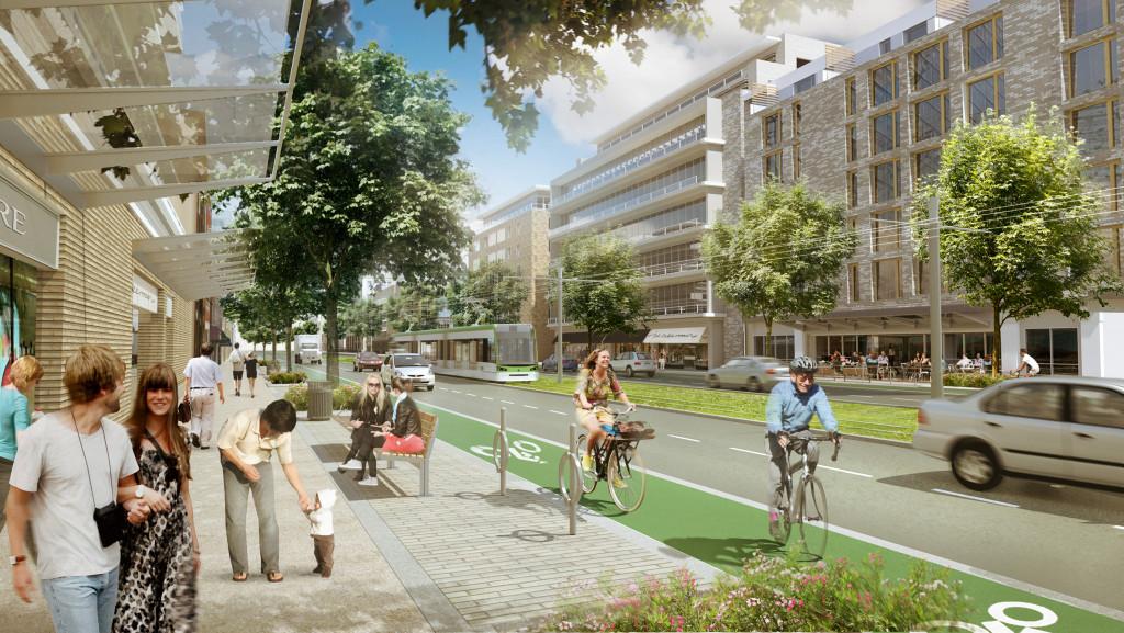 Eglinton Connects streetscape plan, Toronto, Ontario.