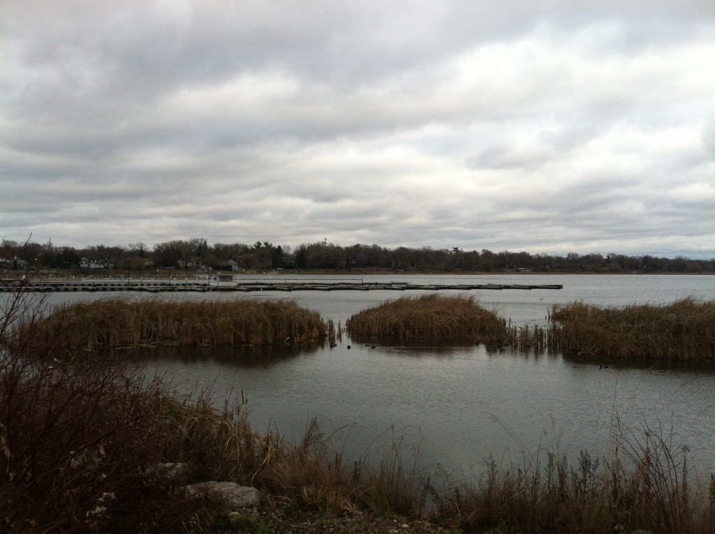 North view of  a once submerged White Bear Lake, Minnesota