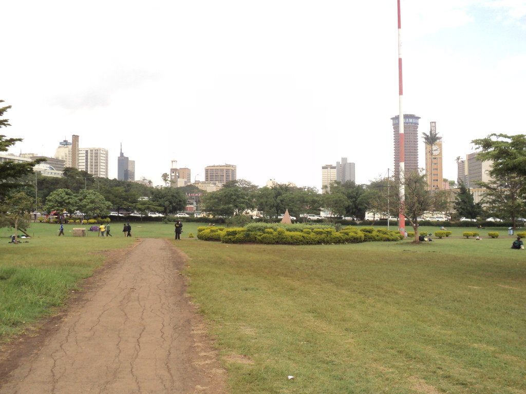 Uhuru Park borders the south of the Central Business District