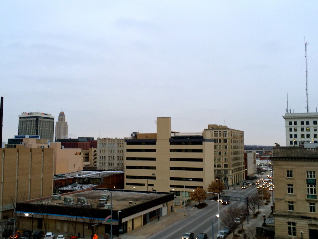 Lincoln, Nebraska downtown skyline