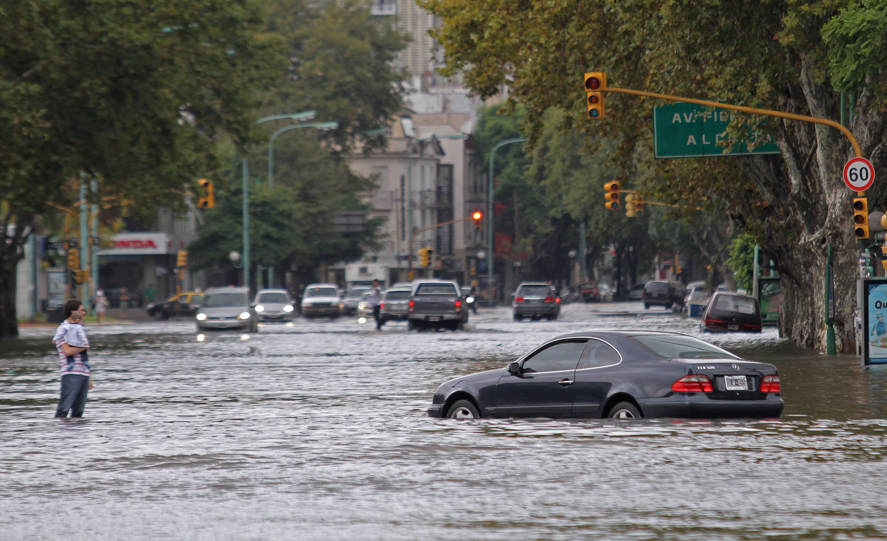 Typical flood in Buenos Aires