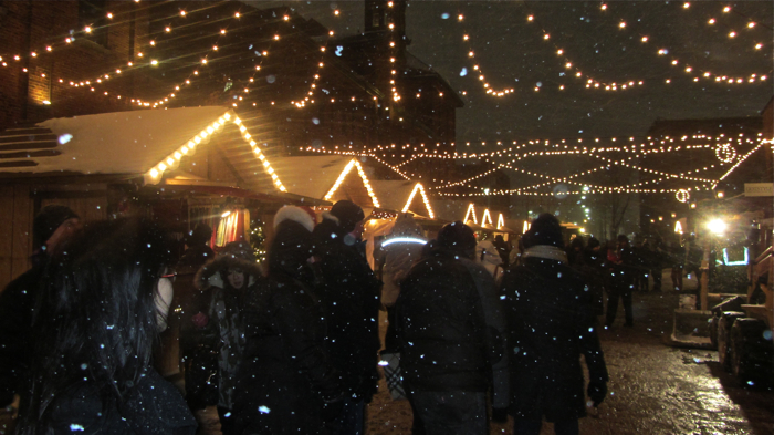 Distillery District 2013 Christmas Market at Night