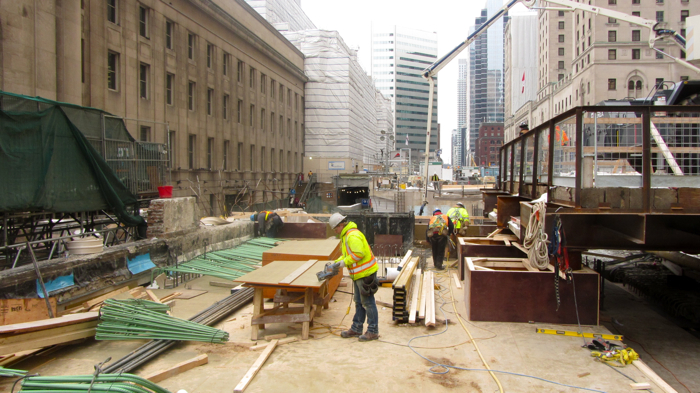 Toronto's Union Station undergoing extensive renovations, Dec 2013