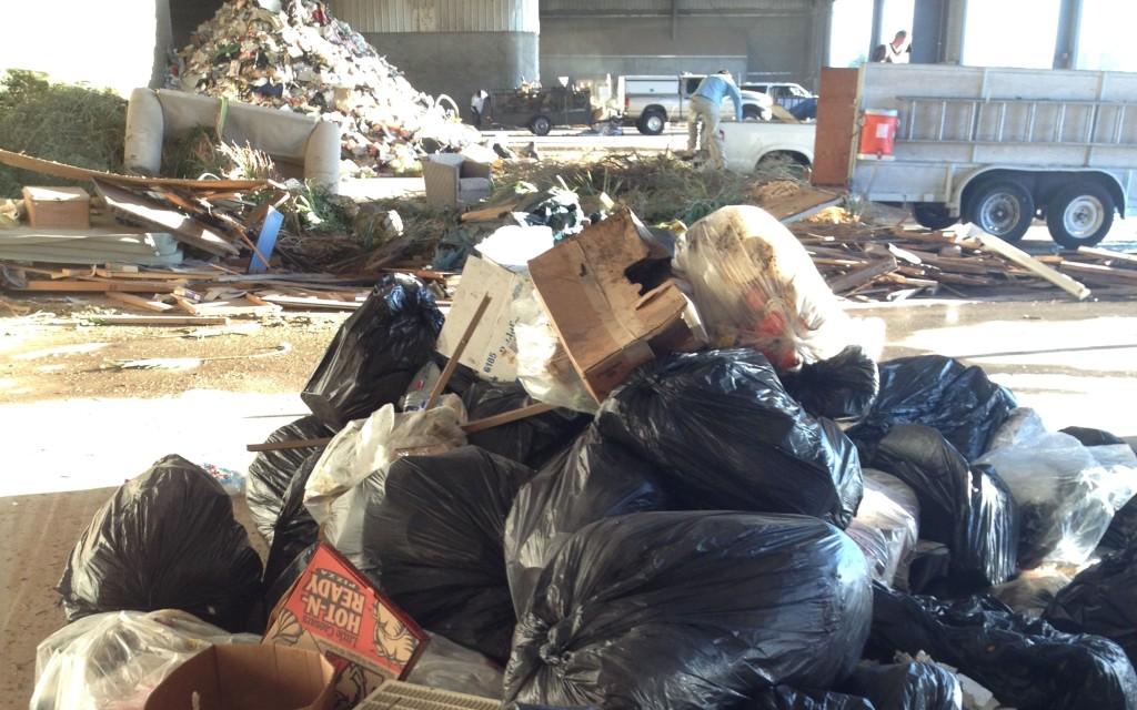 Transfer station trash pile, Phoenix, Arizona
