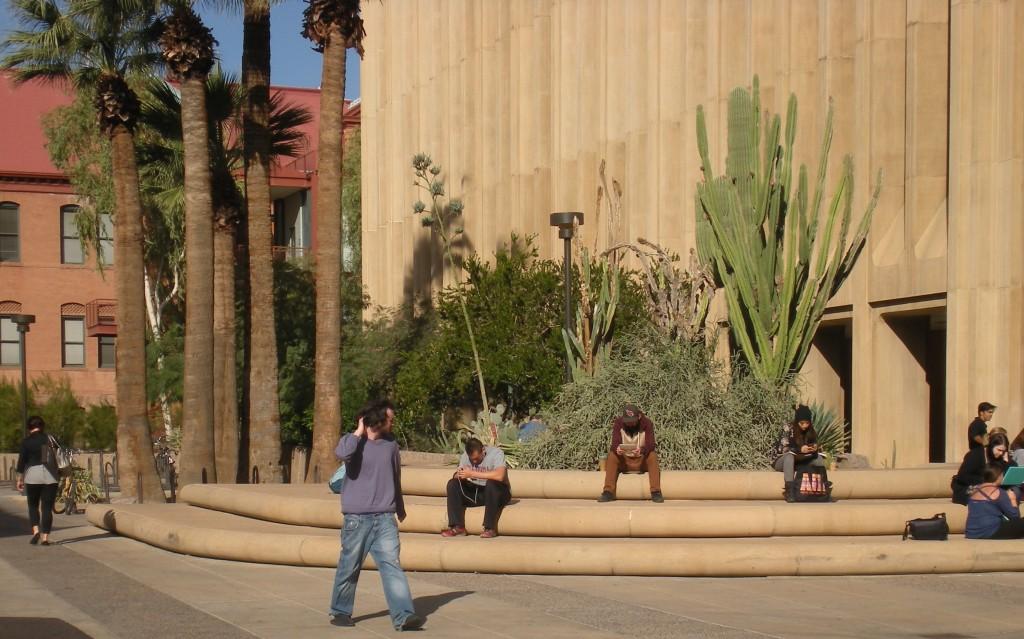 People on steps, Tempe, Arizona