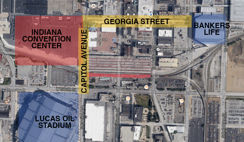 Super Bowl Village Map