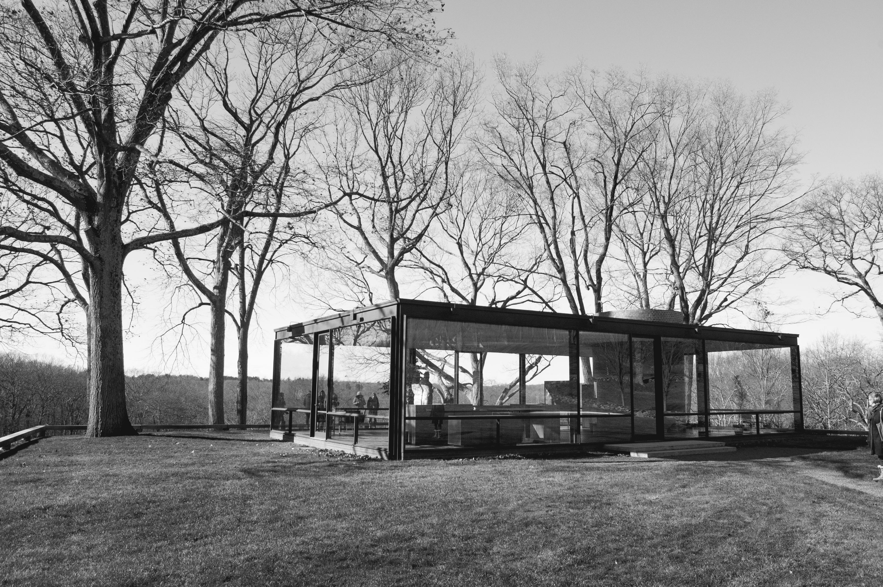 events follies brick and glass a visit to philip johnson s glass house the global grid. Black Bedroom Furniture Sets. Home Design Ideas