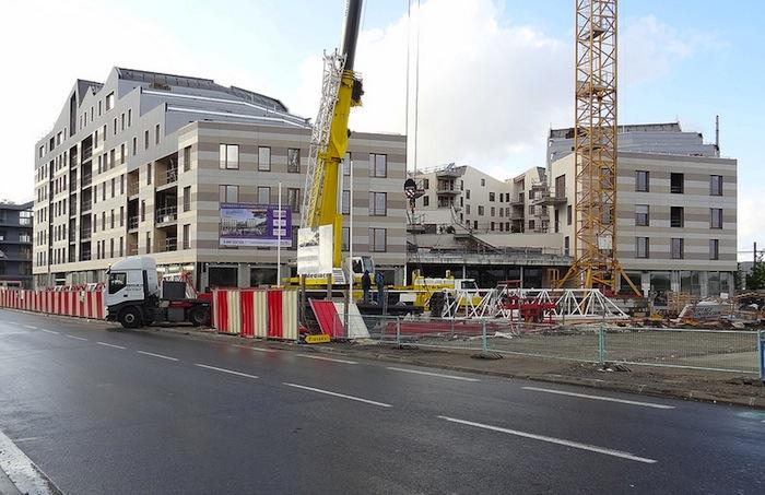 Construction in Bordeaux, France.