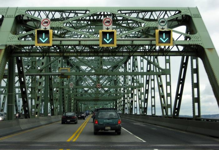 The Champlain Bridge in Montreal, Canada.