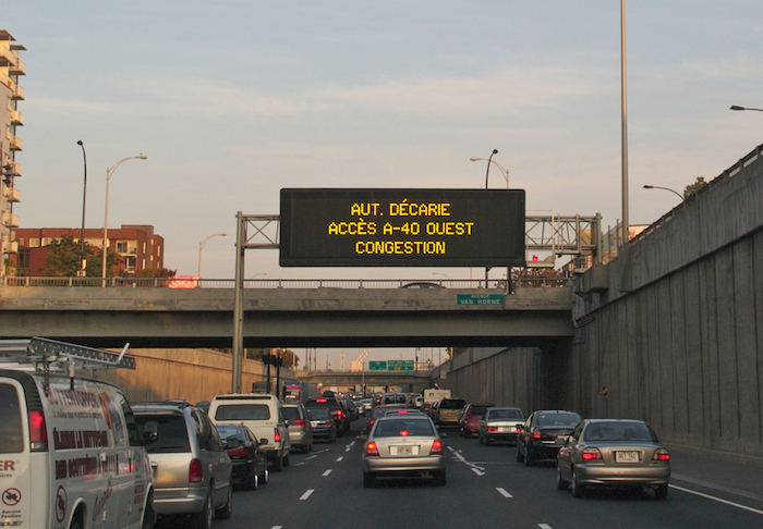 Traffic in Montreal