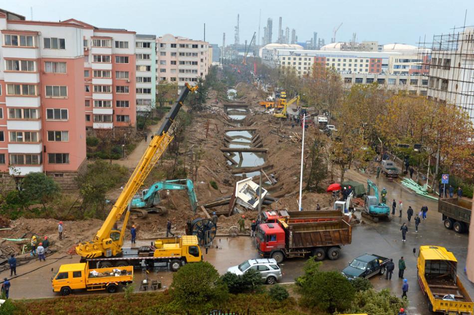 Qingdao Pipeline Explode, China