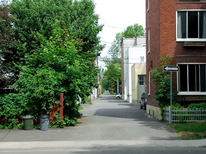 An alley in Limoilou, Quebec.
