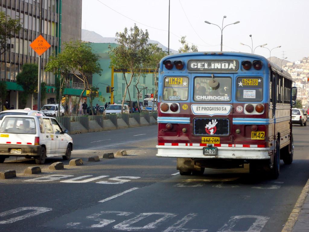 Combi bus in Lima, Peru