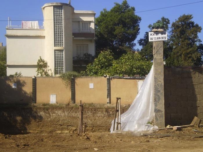 A construction site in Blida, Algeria.
