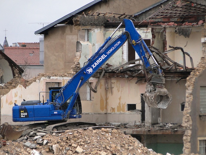 A demolition site in France.