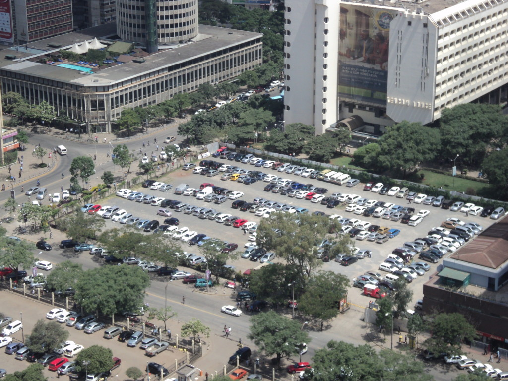 Nairobi's CBD is planned around cars