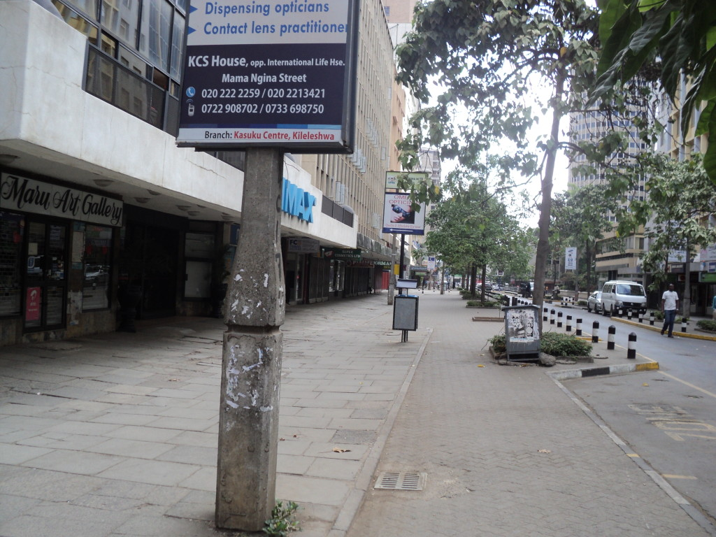 Mama Ngina Street has a wide Pedestrian Walkway