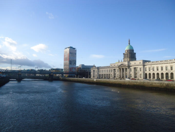 Dublin Liberty Hall and Custom house