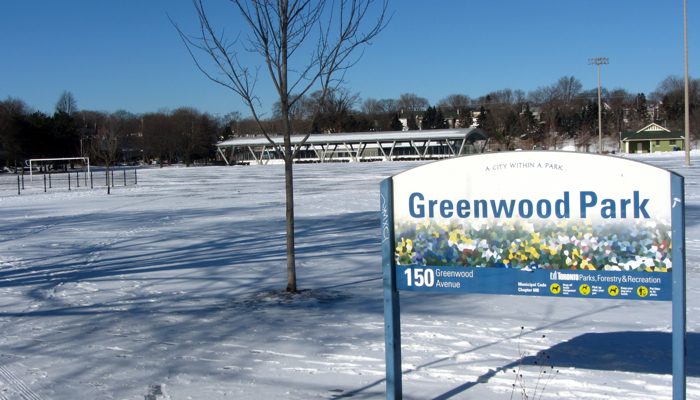 Greenwood Park Skating Complex in Toronto