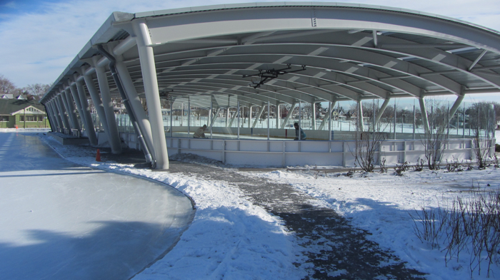 Greenwood Outdoor Covered Skating Rink in Toronto