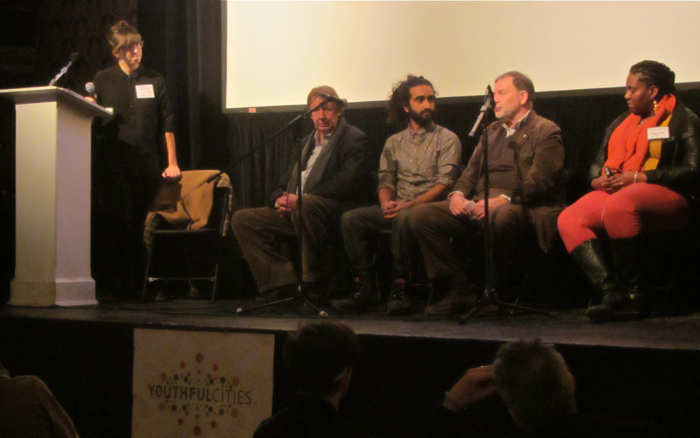 Panel at the YouthfulCities Canadian Launch, Toronto