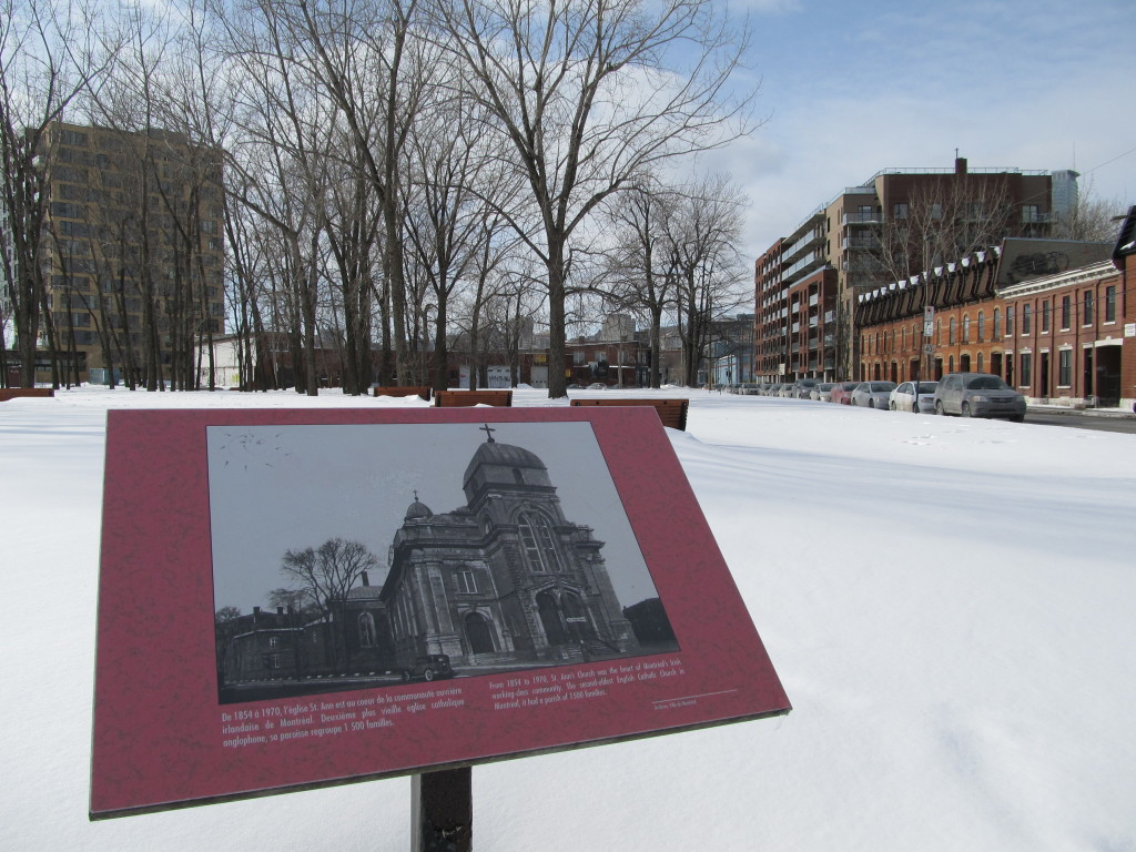Former Site of St. Ann Church in Griffintown, Montreal