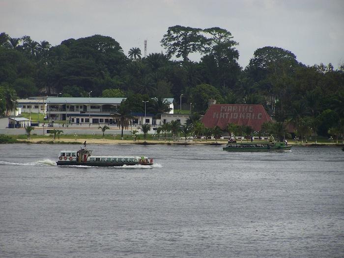 Boats in the water near Abidjan, Côte d'Ivoire