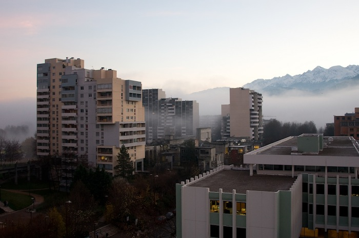 Overlooking Grenoble, France