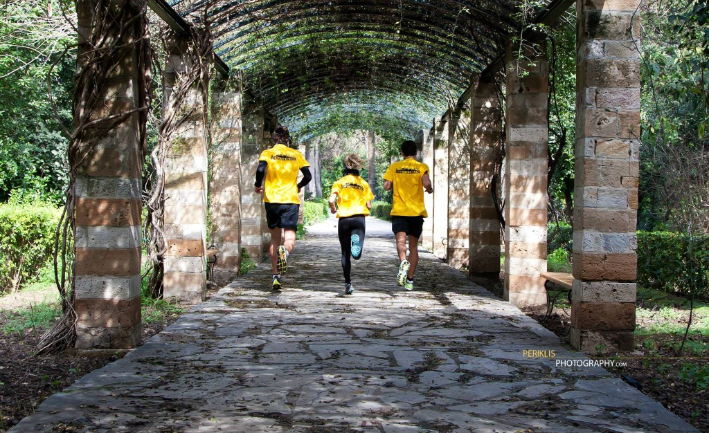 Urban Trail Runners in action, Athens,Greece